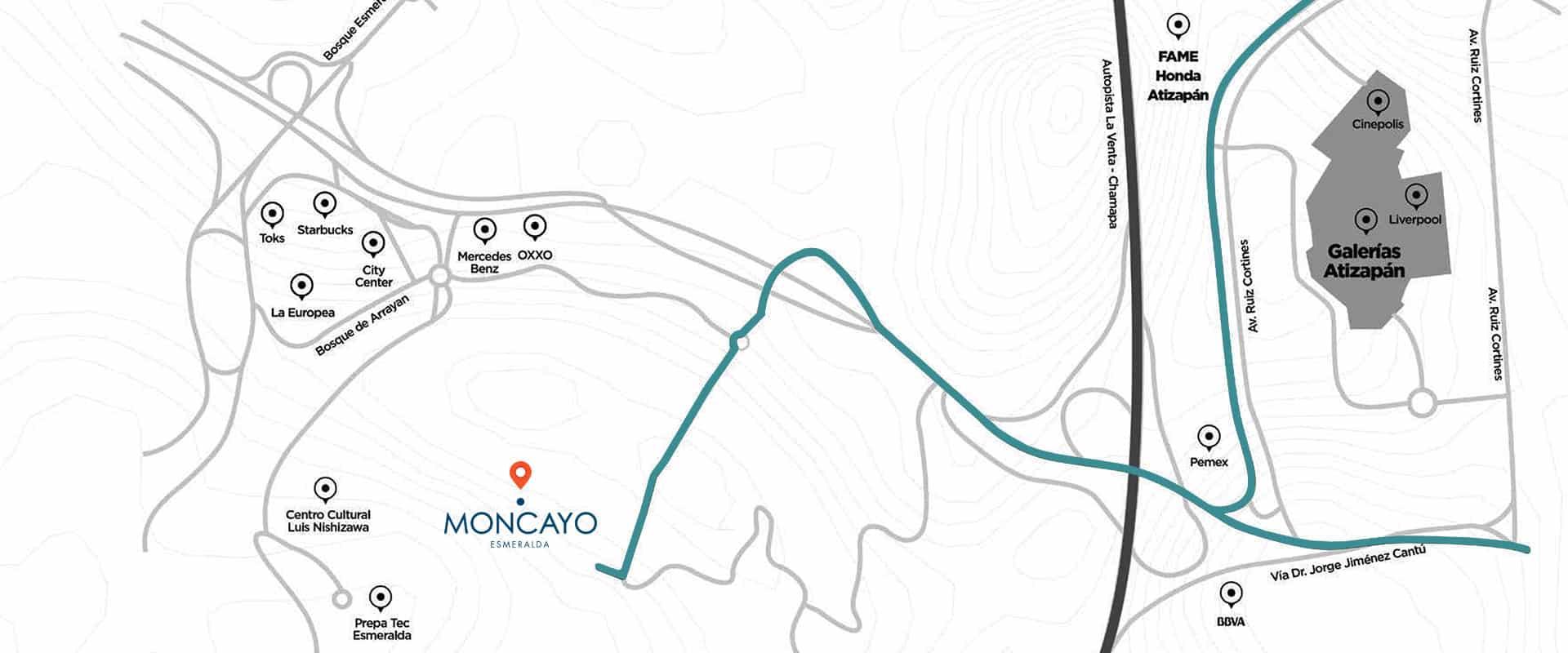 Mapa de Ubicación de Moncayo Esmeralda